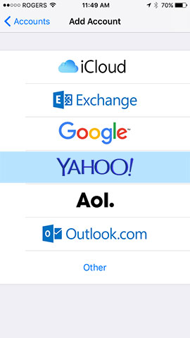 Make sure you select Yahoo!